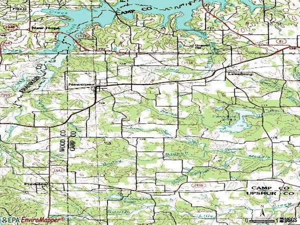 Zip code 75451 topographic map