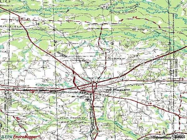 Zip code 75455 topographic map