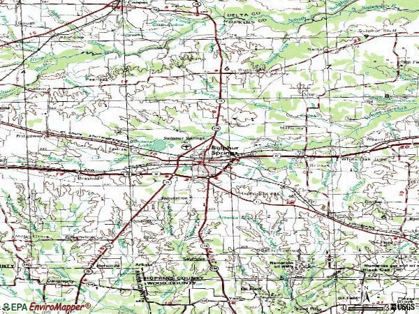 Zip code 75482 topographic map
