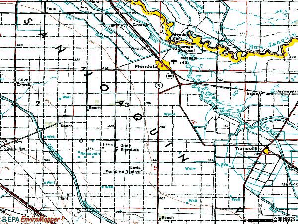 Zip code 93640 topographic map