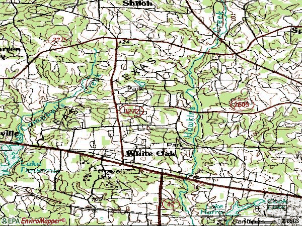 Zip code 75693 topographic map