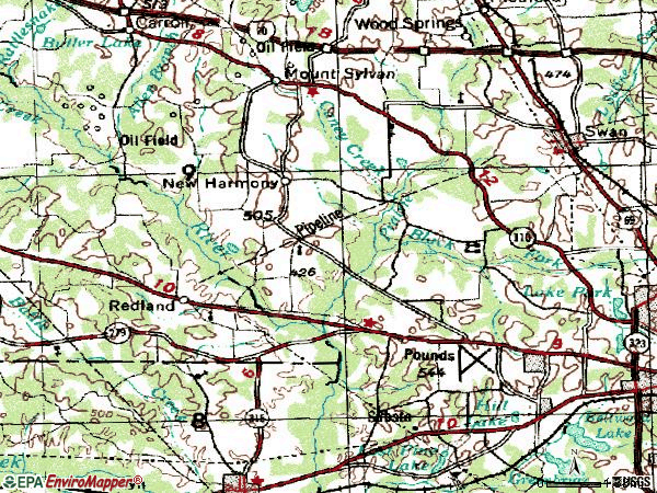 Zip code 75704 topographic map