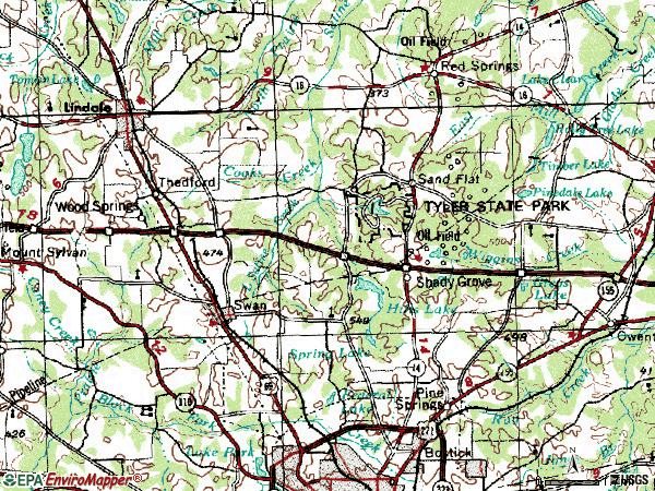 Zip code 75706 topographic map