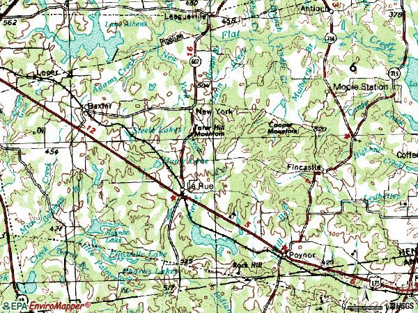Zip code 75770 topographic map