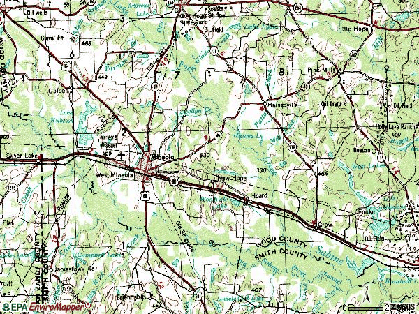 Zip code 75773 topographic map