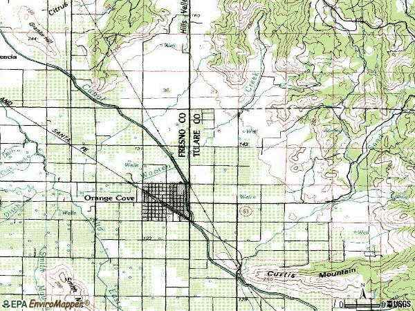 Zip code 93646 topographic map
