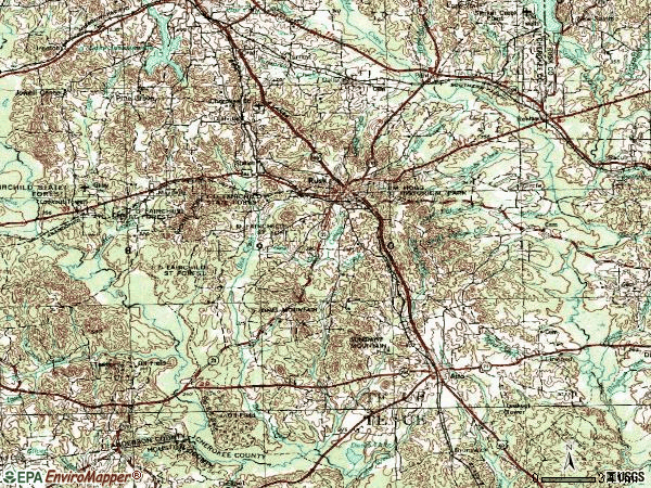Zip code 75785 topographic map