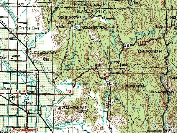 Zip code 93647 topographic map
