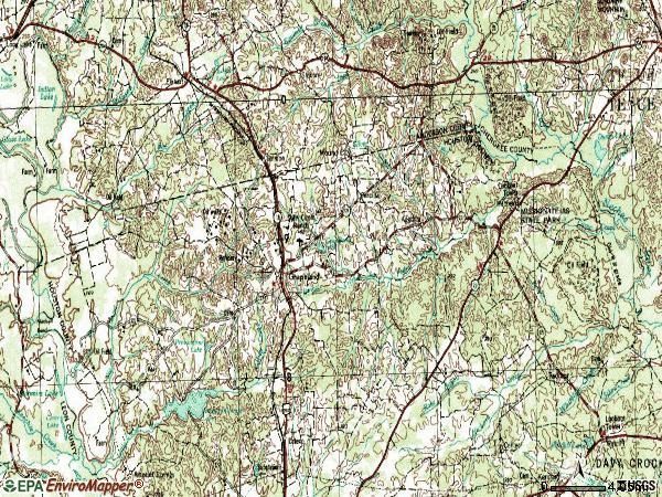 Zip code 75844 topographic map