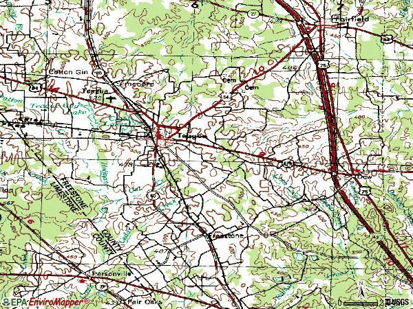 Zip code 75860 topographic map