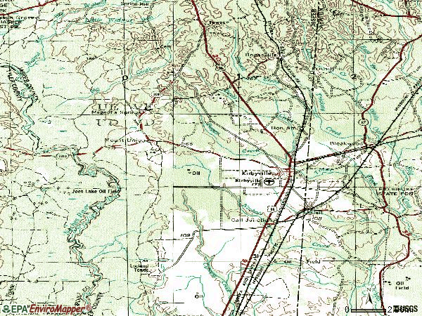 Zip code 75956 topographic map