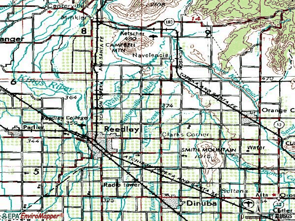 Zip code 93654 topographic map