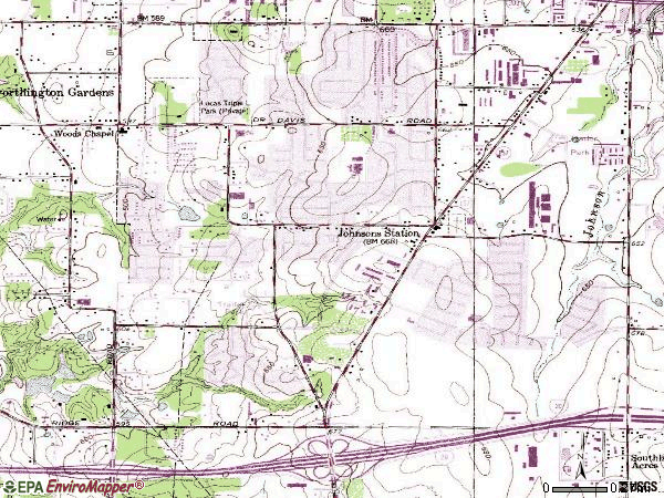 Zip code 76015 topographic map