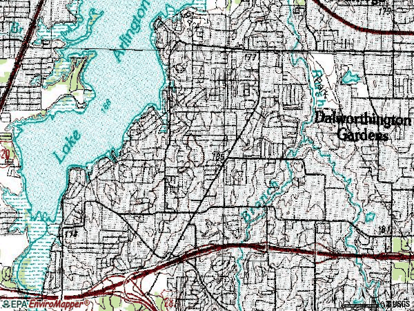 Zip code 76016 topographic map