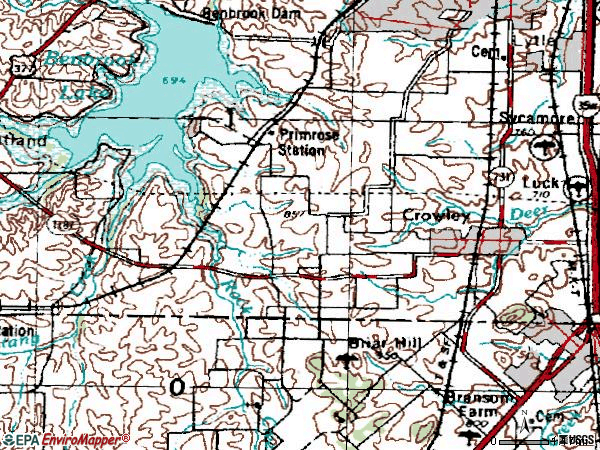 Zip code 76036 topographic map