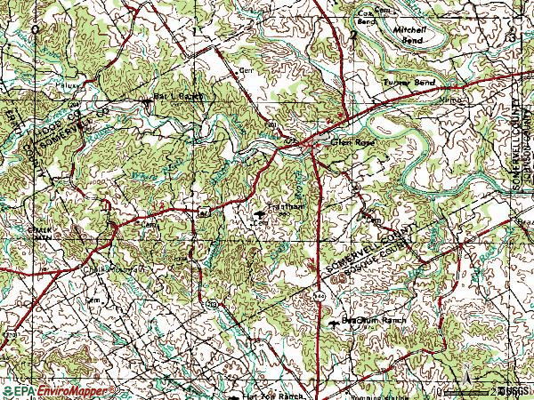 Zip code 76043 topographic map