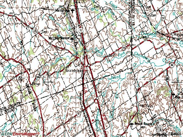 Zip code 76050 topographic map