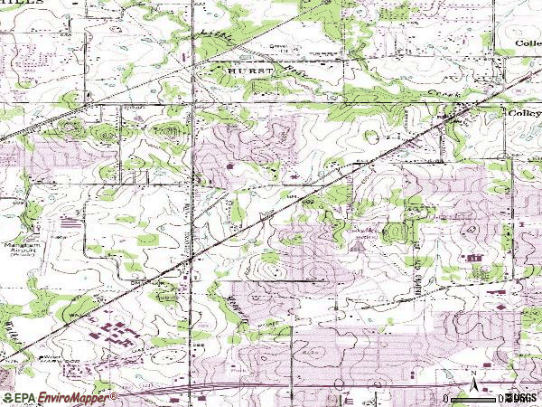 Zip code 76054 topographic map