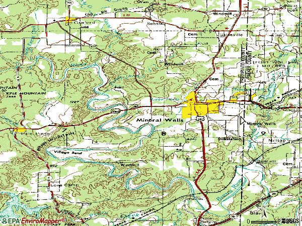 Zip code 76067 topographic map