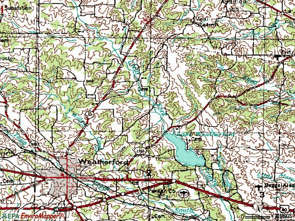 Zip code 76086 topographic map