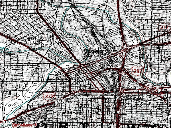 Zip code 76102 topographic map