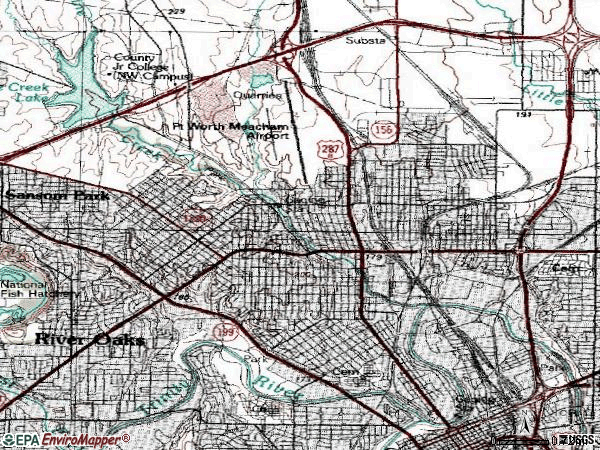 Zip code 76106 topographic map
