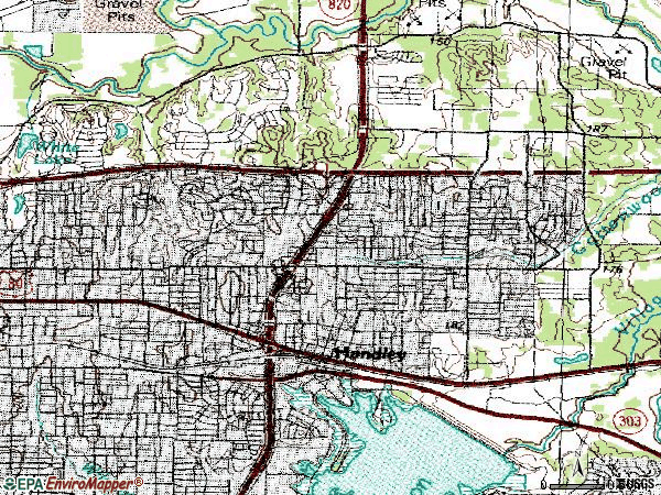 Zip code 76112 topographic map