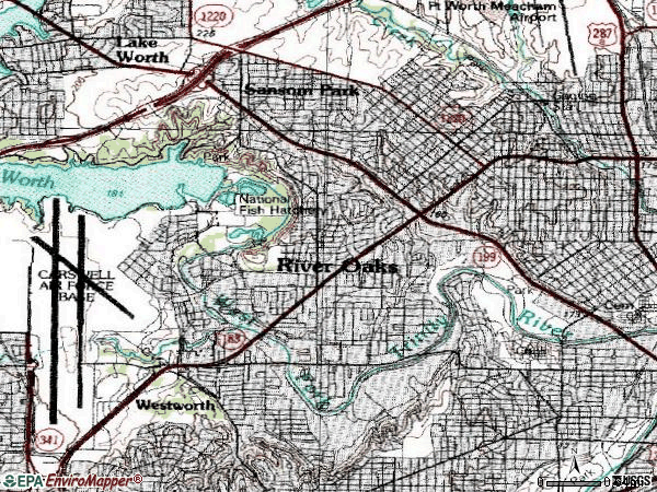 Zip code 76114 topographic map