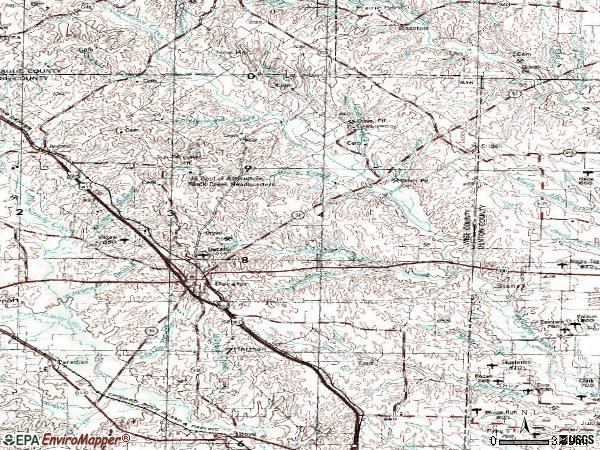 Zip code 76234 topographic map