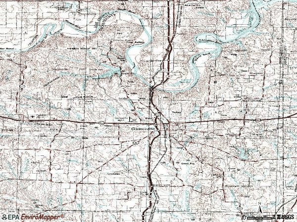 Zip code 76240 topographic map