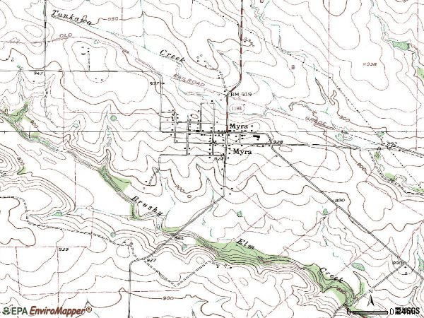 Zip code 76253 topographic map