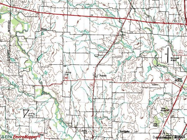 Zip code 76259 topographic map