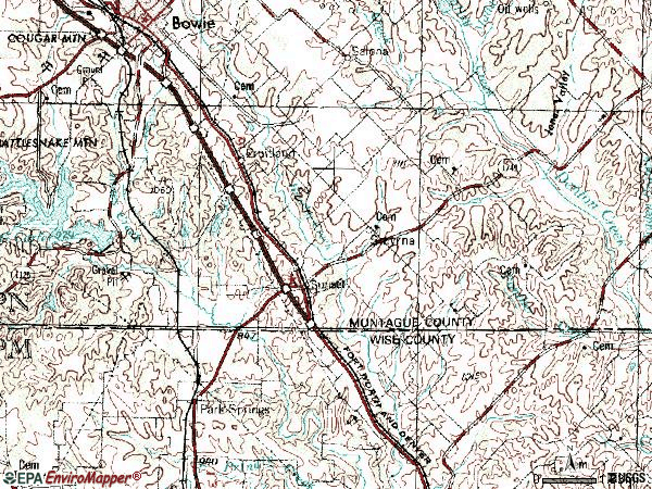 Zip code 76270 topographic map