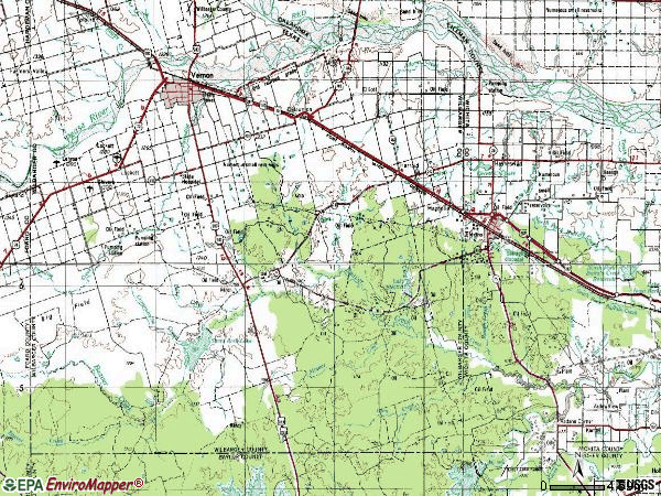 Zip code 76360 topographic map