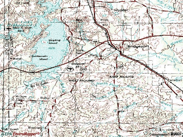 Zip code 76426 topographic map