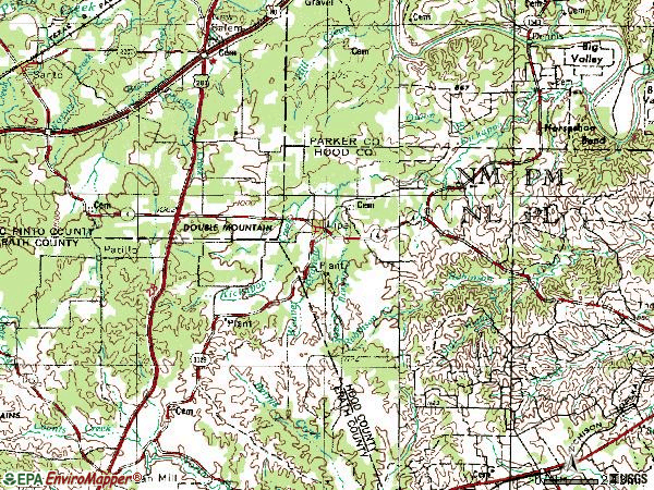 Zip code 76462 topographic map