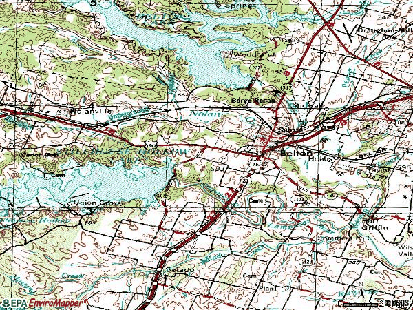 Zip code 76513 topographic map