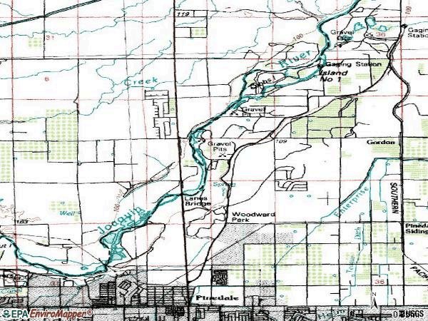 Zip code 93720 topographic map