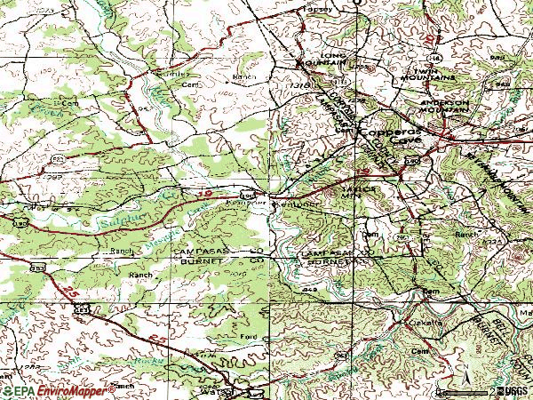Zip code 76539 topographic map