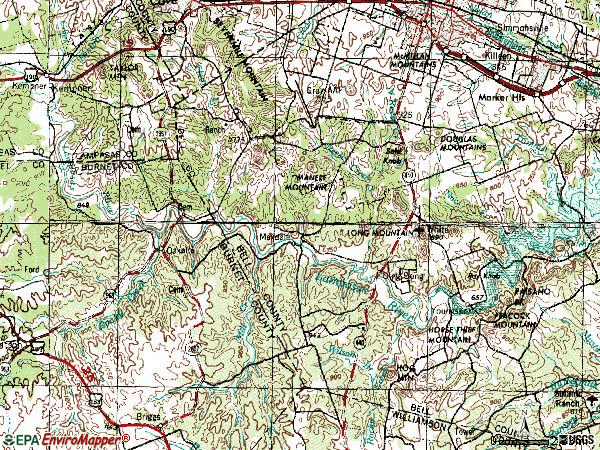 Zip code 76542 topographic map