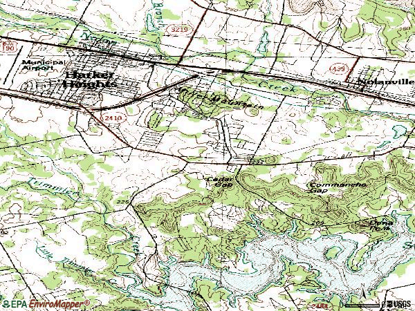 Zip code 76548 topographic map