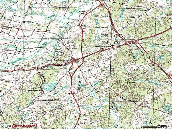 Zip code 76567 topographic map
