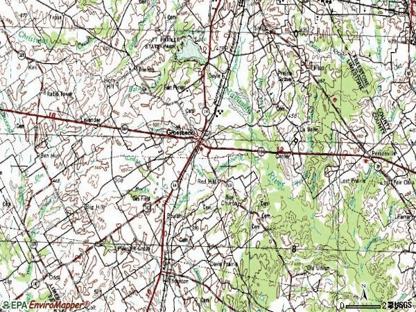 Zip code 76642 topographic map
