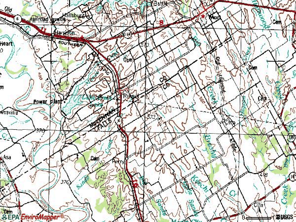 Zip code 76682 topographic map