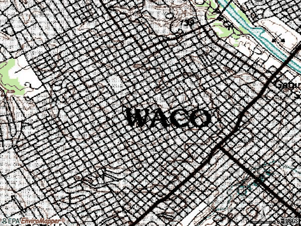 Zip code 76707 topographic map