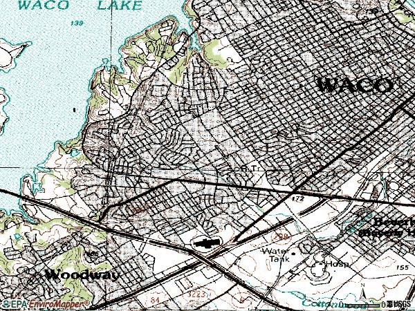 Zip code 76710 topographic map