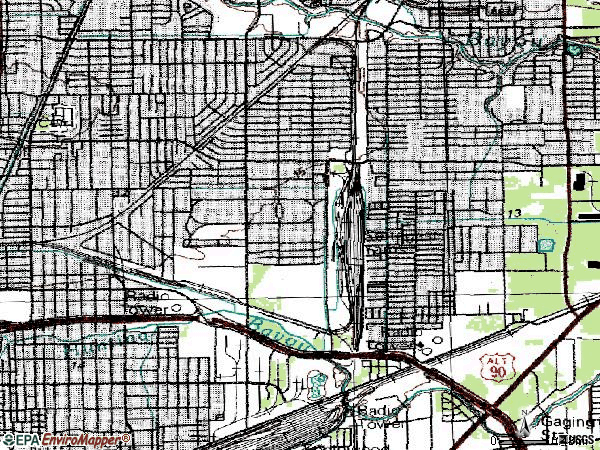 Zip code 77028 topographic map
