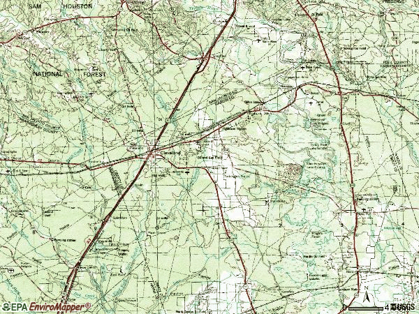 Zip code 77327 topographic map