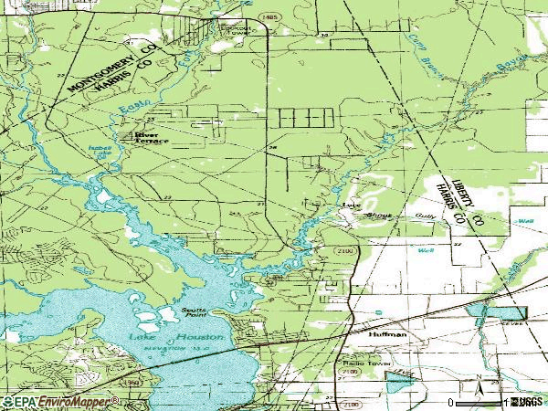 Zip code 77336 topographic map