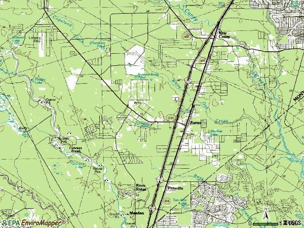 Zip code 77365 topographic map